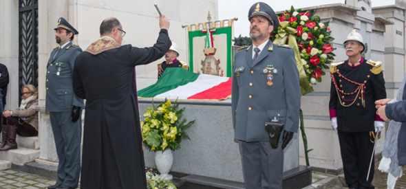 Cerimonia di commemorazione di Vincenzo Di Donna