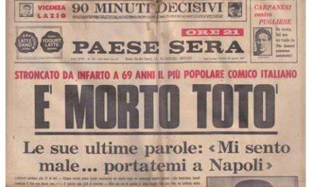 Cinquant'anni fa moriva Totò