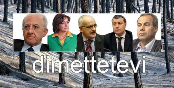 Vesuvio in fiamme, politici dimettetevi tutti!