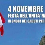 """4 novembre, """"Giornata dell'Unità Nazionale e delle Forze Armate"""""""