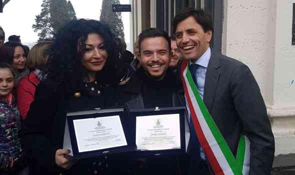 Ercolano, premiati Andrea Sannino e Ivana D'Addona
