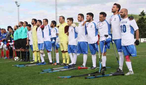 Calcio amputati: a Firenze l'Italia batte la Spagna 1-0