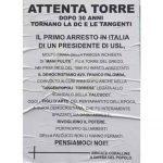 Elezioni avvelenate, manifesto contro Giovanni Palomba