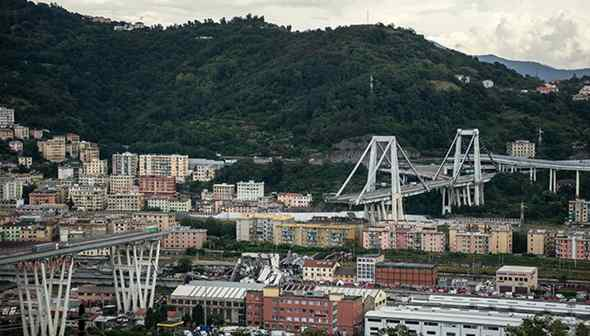 Stanziati 50 milioni per le vittime del ponte Morandi da Autostrade