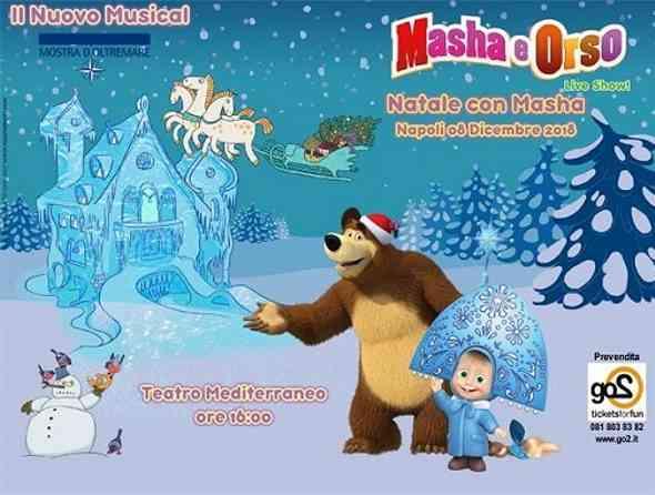 Mostra d'Oltremare. Natale con Masha e Orso, il musical per i piccini 🗓