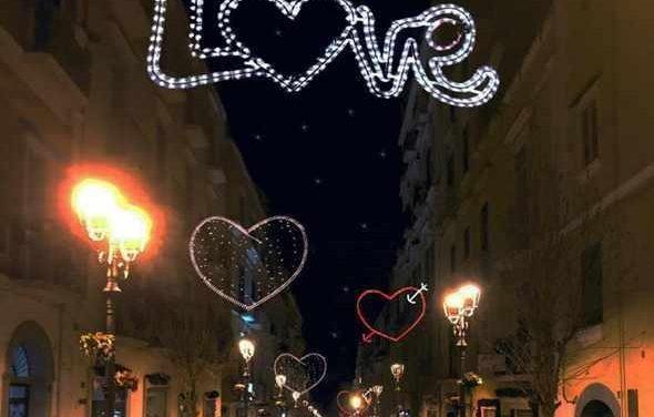 Torre in Love, luminarie in centro per San Valentino