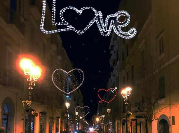 Torre in Love, luminarie in centro per San Valentino