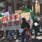 Marcia degli studenti contro i rifiuti