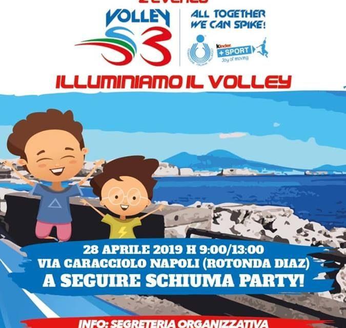 """""""Illuminiamo il Volley"""": sul lungomare di Napoli"""