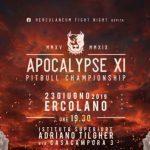 MMA, il 23 giugno ci sarà undicesima edizione dell' Apocalypse ad Ercolano