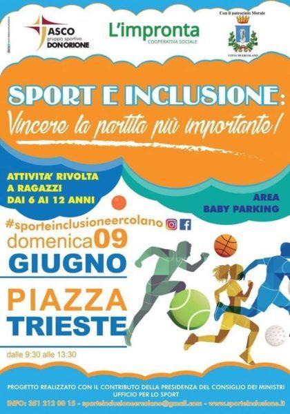 """Ercolano, Domenica al via """"Sport e inclusione: Vincere la partita più importante!"""""""