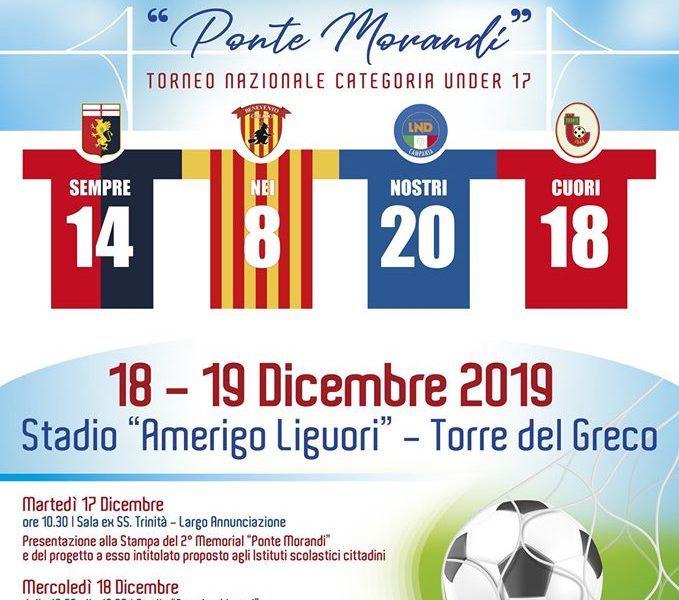 """Torre del Greco, II° Memorial di calcio """"Ponte Morandi"""". A dicembre torneo allo stadio Liguori"""