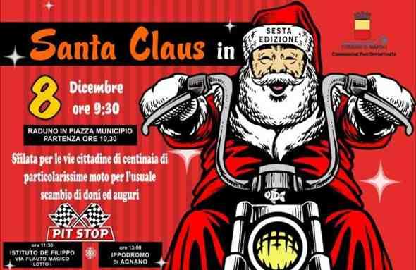 Santa Claus in moto a Napoli 🗓
