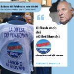 "#Pensionatofairumore: a Napoli sabato 15 febbraio flash mob dei ""Gilet Bianchi"""
