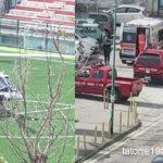 Torre del Greco. Emergenza, Elicottero atterra allo stadio Liguori