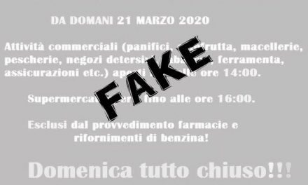 Coronavirus Torre del Greco, Fake news su chiusura negozi alle 14