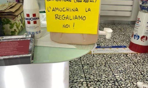 "Coronavirus, farmacia distribuisce ""Amuchina"" gratis"