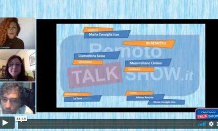 Remoto Talk Show: #IoRestoaCasa… Progetto e mi diverto!