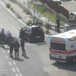 Torre del Greco, scontro contro l'auto dei carabinieri