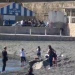 Rissa davanti a famiglie tra Ercolano e Torre del Greco