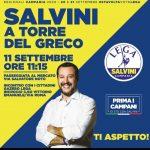 Tour elettorale di Salvini a Torre del Greco