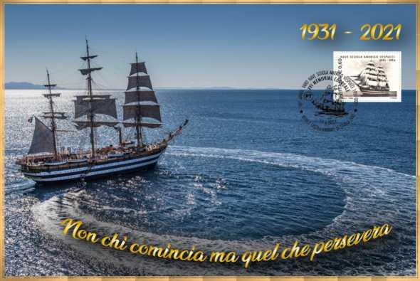 A Castellammare l'annullo filatelico dedicato al 90° anniversario del varo dell'Amerigo Vespucci 🗓
