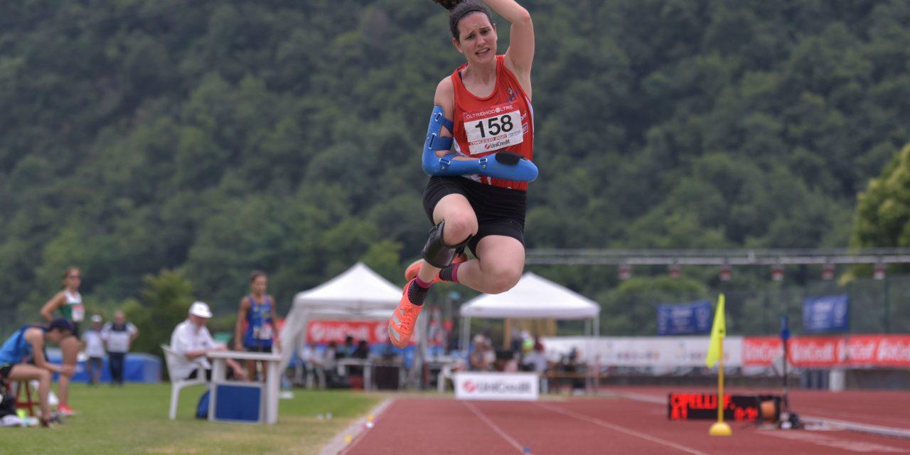 Atletica paralimpica: Francesca Cipelli record italiano nel lungo a Celle Ligure
