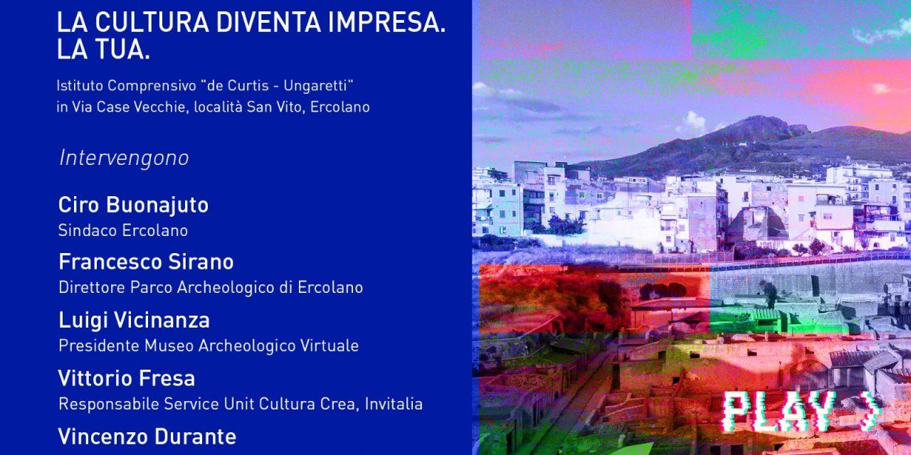 Cultura e Impresa: convegno di Invitalia ad Ercolano