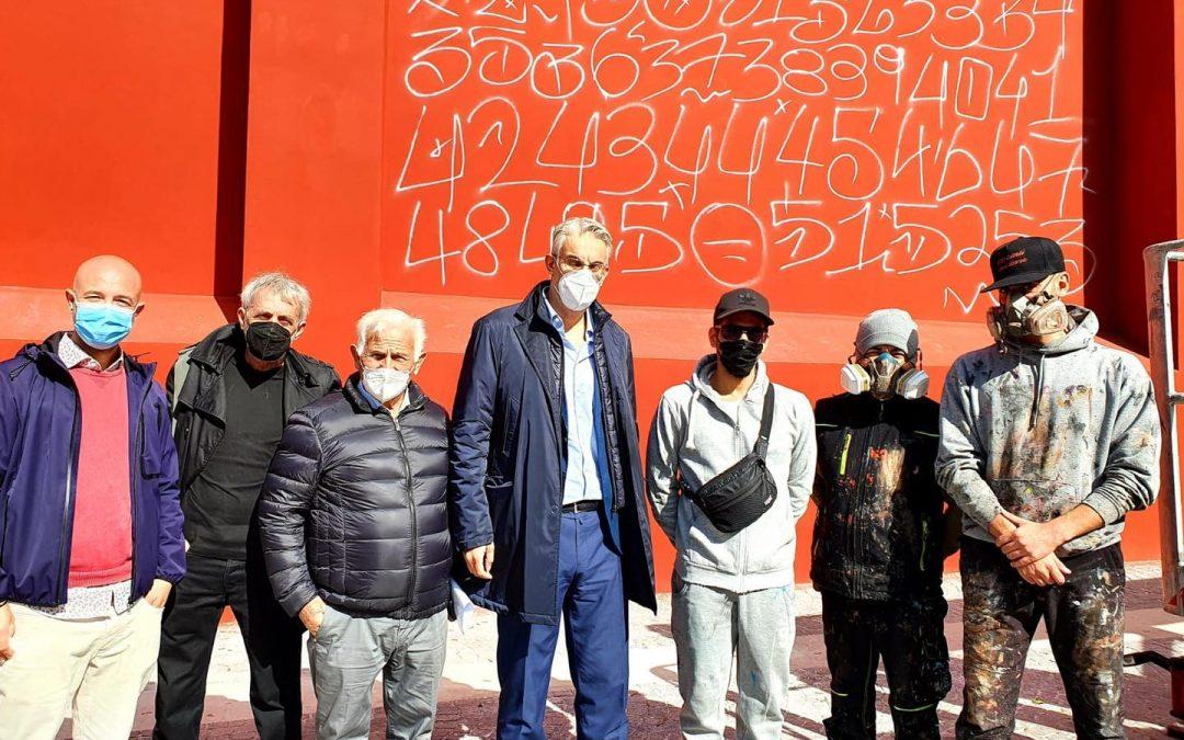 San Giorgio a Cremano. Al via il murale dedicato a Massimo Troisi, nell'omonima piazza.