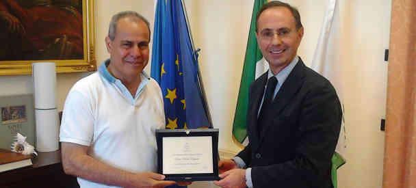 Sindaco, saluto al primo dirigente del commissariato Paolo Esposito