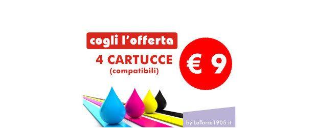 Cogli l'offerta: 4 Cartucce comp. a € 9 euro