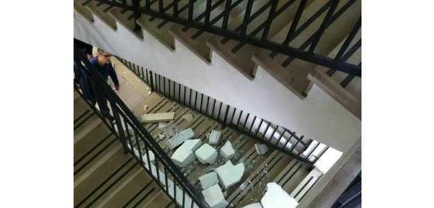 Crolla un muro all'interno del Liceo A. Nobel