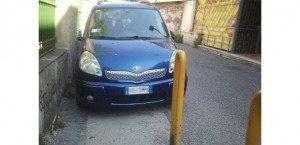 Paletti-Tagliati-Auto-Parcheggiata