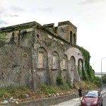Crolla una villa storica a via Cesare Battisti